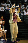 23 MAR 2012:   Sue Ramsey head coach of Ashland University gives directions to her team against Shaw University during the Division II Womens Basketball Championship held at Bill Greehey Arena in San Antonio, TX.  Shaw University defeated Ashland University 88-82 for the national title.  Rodolfo Gonzalez/ NCAA Photos
