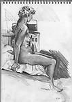 Sketchbook drawing of figure