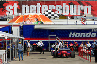Grand Prix of St. Petersburg, 3 April, 2005.The garage area at St.Pete..Copyright©F.Peirce Williams 2005.  ref.Digital Image Only