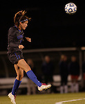 Freshman Mid-Fielder Olivia Jester heads the ball during the University of Kentucky vs UT-Martin soccer game in the first round of the NCAA Soccer Tournament in Lexington, Ky., on, 11 11/9/2012, {year}. Photo by Jared Glover | Staff