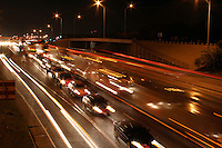 I-35, rush hour, bumper to bumper traffic in Austin, Texas