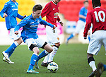 St Johnstone Academy v Manchester United Academy....17.04.15   <br /> Jamie McKenzie<br /> Picture by Graeme Hart.<br /> Copyright Perthshire Picture Agency<br /> Tel: 01738 623350  Mobile: 07990 594431