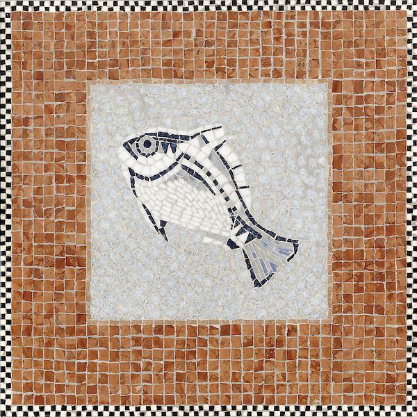 Large Mosaic Design Fish Sign