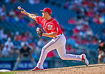 23 August 2015: Washington Nationals pitcher Jonathan Papelbon on the mound against the Milwaukee Brewers at Nationals Park in Washington, DC. The Nationals defeated the Brewers 9-5 in the third game of their 3-game weekend series. Mandatory Credit: Ed Wolfstein Photo *** RAW (NEF) Image File Available ***