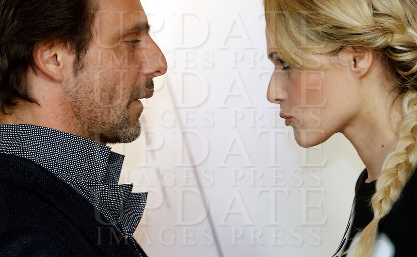 "Gli attori Alessandro Preziosi e Laura Chiatti posano durante un photocall per la presentazione del film ""Il volto di un'altra"" a Roma, 4 aprile 2013..Italian actors Alessandro Preziosi and Laura Chiatti, right, pose during a photocall for the presentation of the movie ""Il volto di un'altra"" in Rome, 4 April 2013..UPDATE IMAGES PRESS/Riccardo De Luca"