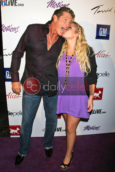 David Hasselhoff and Hayley Hasselhoff<br />at Celebrity Catwalk for Charity. The Highlands Nightclub, Hollywood, CA. 08-16-07<br />Dave Edwards/DailyCeleb.com 818-249-4998