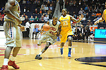 "Ole Miss' Jarvis Summers (32) vs. McNeese State's Brandon Regis (23) at the C.M. ""Tad"" Smith Coliseum in Oxford, Miss. on Tuesday, November 20, 2012. .."