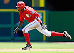 21 May 2006: Alfonso Soriano, outfielder for the Washington Nationals, sprints to attempt a steal during a game against the Baltimore Orioles at RFK Stadium in Washington, DC. The Nationals defeated the Orioles 3-1 to take 2 of 3 games in their first inter-league series...Mandatory Photo Credit: Ed Wolfstein Photo..
