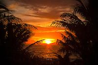 Namotu Island Resort, Fiji.  (Sunday, March 12, 2011)  The sunrises over the mainland of Fiji.. Photo: joliphotos.com
