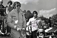 ST. JOVITE, QUE - JUNE 27: Jackie Stewart prepares to drive the 1971 L&M Lola Chevrolet Can-Am car at Le Circuit Mont Tremblant near St. Jovite, Quebec, Canada.