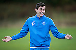 St Johnstone Training&hellip;.14.10.16<br />Joe Shaughnessy pictured in training this morning atr McDiarmid Park ahead of tomorrows game against Kilmarnock<br />Picture by Graeme Hart.<br />Copyright Perthshire Picture Agency<br />Tel: 01738 623350  Mobile: 07990 594431
