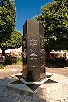 Memorial to the Jews of Rhodes killed in the Holocost, the Jewish quater of Rhodes, Greece, UNESCO World Heritage Site