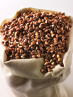 Roasted buckwheat seeds - stock photos