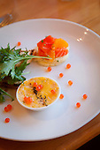 Salmon and cauliflwer mousse, Lochmara Lodge, Marlborough Sounds, South Island, New Zealand