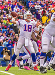 19 October 2014: Buffalo Bills quarterback Kyle Orton makes a forward pass in the second quarter against the Minnesota Vikings at Ralph Wilson Stadium in Orchard Park, NY. The Bills defeated the Vikings 17-16 in a dramatic, last minute, comeback touchdown drive. Mandatory Credit: Ed Wolfstein Photo *** RAW (NEF) Image File Available ***