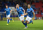 St Johnstone v Ross County...11.08.15...SPFL..McDiarmid Park, Perth.<br /> Graham Cummins celebrates his goal<br /> Picture by Graeme Hart.<br /> Copyright Perthshire Picture Agency<br /> Tel: 01738 623350  Mobile: 07990 594431
