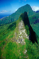 French Polynesia, Moorea, interior mountain