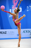 Neta Rivkin of Israel performs with ball at 2010 Pesaro World Cup on August 28, 2010 at Pesaro, Italy.  Photo by Tom Theobald.