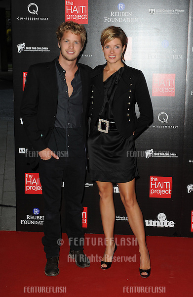 Sam Branson & Isabella Calthorpe arrive for The Haiti Project Fundraising Dinner and Auction..Altitude 360, Millbank Tower..London. 26-05-10..Pictures by Simon Burchell/Featureflash.