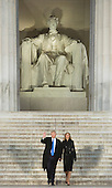 President-elect of The United States Donald J. Trump and FIRST LADY-elect of The United States arrive at the &quot;Make America Great Again Welcome Celebration concert at the Lincoln Memorial in Washington, DC, January 19, 2017. <br /> Credit: Chris Kleponis / Pool via CNP