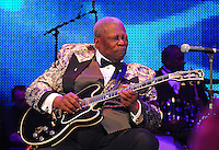 Legendary musician B.B.King preforms in New Orleans Saturday May 30,2009 as part of the Domino Effect Benefit concert which also featured B.B. King and Chuck Berry. Domino Effect Benefit Concert legendary performers gather in New Orleans at the Arena to raise funds and awarness for hurricane Katrina rebuilding for Fats Domino the Tipatina Foundation and the Drew Brees' foundation. Photo&copy;Suzi Altman ALL IMAGES &copy;SUZI ALTMAN. IMAGES ARE NOT PUBLIC DOMAIN. CALL OR EMAIL FOR LICENSE, USE, OR TO PURCHASE PRINTS 601-668-9611 OR EMAIL SUZISNAPS@AOL.COMPhoto&copy;Suzi Altman