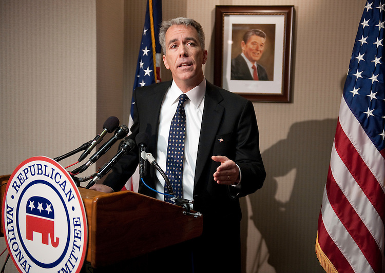 UNITED STATES - NOVEMBER 17: Rep.-elect Joe Walsh, R-Ill., holds a news conference on his election to Congress at the Republican National Committee headquarters on Wednesday, Nov. 17, 2010. (Photo By Bill Clark/Roll Call)