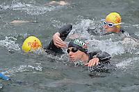 20170514 GEEL : Kwarttriathlon Geel - 1/4 triathlon Geel <br /> Steven Vuylsteke (zwarte badmuts)<br /> <br /> PHOTO SPORTPIX.BE / DIRK VUYLSTEKE
