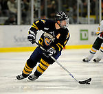 30 December 2007: Quinnipiac University Bobcats' defenseman Dan Henningson, a Junior from Edmonton, Alberta, in action against the University of Vermont Catamounts at Gutterson Fieldhouse in Burlington, Vermont. The Bobcats defeated the Catamounts 4-1 to win the Sheraton/TD Banknorth Catamount Cup Tournament...Mandatory Photo Credit: Ed Wolfstein Photo