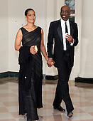 Dr. Jean-Phillipe Austin, one of United States President Barack Obama's biggest campaign fundraisers, arrives with Maggie Austin for the Official Dinner in honor of Prime Minister David Cameron of Great Britain and his wife, Samantha, at the White House in Washington, D.C. on Tuesday, March 14, 2012..Credit: Ron Sachs / CNP.(RESTRICTION: NO New York or New Jersey Newspapers or newspapers within a 75 mile radius of New York City)