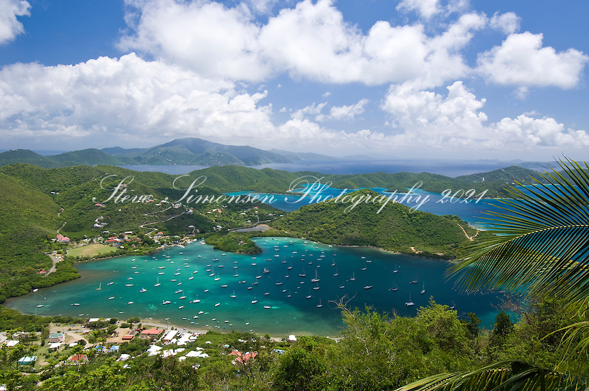 View of Coral Bay and Hurricane Hole.St. John.U.S. Virgin Islands