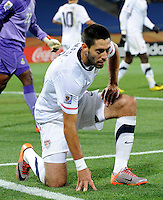 Clint Dempsey of the USA looks dejected. Ghana defeated the USA 2-1 in overtime in the 2010 FIFA World Cup at Royal Bafokeng Stadium in Rustenburg, South Africa on June 26, 2010.
