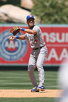 05/06/12 Anaheim, CA: Toronto Blue Jays shortstop Omar Vizquel #17 during an MLB game against the Toronto Blue Jays played at Angel stadium. The Angels defeated the Blue Jays 4-3