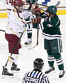 Patrick Wey (BC - 6), Nick Bligh (Dartmouth - 14) - The Boston College Eagles defeated the visiting Dartmouth College Big Green 6-3 (EN) on Saturday, November 24, 2012, at Kelley Rink in Conte Forum in Chestnut Hill, Massachusetts.