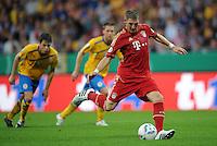 FUSSBALL   DFB POKAL   SAISON 2011/2012  1. Hauptrunde Eintracht Braunschweig - FC Bayern Muenchen   01.08.2011 Bastian SCHWEINSTEIGER (Bayern) verwandelt den zweiten Elfmeter zum 0:2