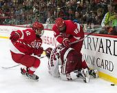 Connor Murphy (Cornell - 12), Viktor Dombrovskiy (Harvard - 27), Matt Buckles (Cornell - 16) - The Harvard University Crimson defeated the visiting Cornell University Big Red on Saturday, November 5, 2016, at the Bright-Landry Hockey Center in Boston, Massachusetts.