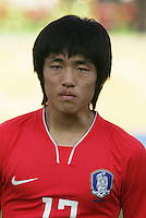 South Korea's Suk Young Yun (17) stands on the field before the FIFA Under 20 World Cup Quarter-final match between Ghana and South Korea at the Mubarak Stadium  in Suez, Egypt, on October 09, 2009.