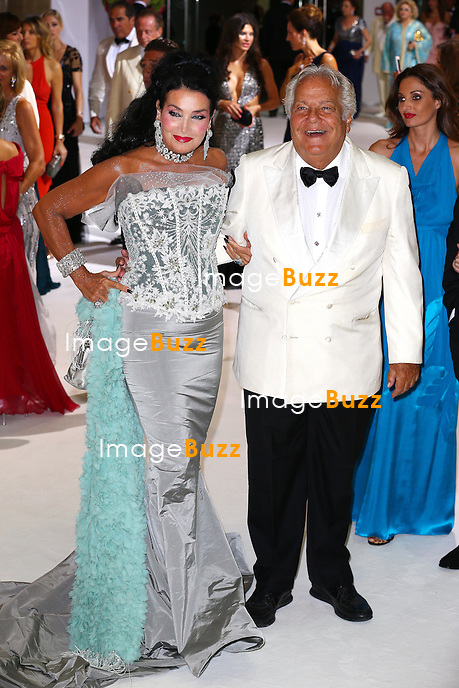 Massimo Gargia (R) and a guest attend the 66th Monaco Red Cross Ball Gala at Sporting Monte-Carlo on August 1, 2014 in Monte-Carlo, Monaco.