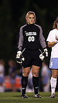UNC goalkeeper Anna Rodenbough on Thursday, October 20th, 2005 at Fetzer Field in Chapel Hill, North Carolina. The University of North Carolina Tarheels defeated the North Carolina State University Wolfpack 1-0 during an NCAA Division I Women's Soccer game.
