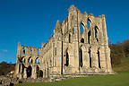 Rievaulx Abbey main church.North Yorkshire, England