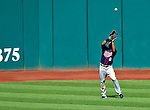 6 September 2009: Minnesota Twins' left fielder Denard Span pulls in a fly ball against the Cleveland Indians at Progressive Field in Cleveland, Ohio. The Indians defeated the Twins 3-1 to take the rubber match of their three-game weekend series. Mandatory Credit: Ed Wolfstein Photo