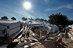 "The largest ""tent city"" of Haitian earthquake survivors is located on a former nine-hole golf course in Port-au-Prince. The Petionville Club is host to more than 44,000 people.."