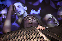 August 27, 2014 - Binyamina, Haifa District, Israel: A fan of Orphaned Land heavy metal band is seen during a concert in Binyamina Amphitheatre at north of Israel. Orphaned Land is a music band founded by Jewish and Arabian musicians who combine ethnic music with rock metal as they recite verses in Hebrew and Arabic from the sacred Quram and Tora Scriptures. (Narciso Contreras/Polaris)