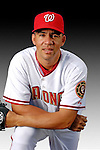 25 February 2007: Washington Nationals outfielder Frank Diaz poses for his Photo Day portrait at Space Coast Stadium in Viera, Florida.<br /> <br /> Mandatory Photo Credit: Ed Wolfstein Photo<br /> <br /> Note: This image is available in a RAW (NEF) File Format - contact Photographer.