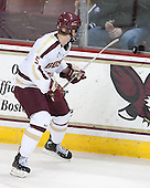 Michael Matheson (BC - 5) - The Boston College Eagles and University of New Hampshire Wildcats tied 4-4 on Sunday, February 17, 2013, at Kelley Rink in Conte Forum in Chestnut Hill, Massachusetts.