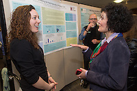 Public Health Poster Session. Class of 2015. Jenna Arruda, left, Dean Patricia Prelock, Ph.D.