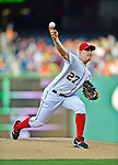 17 May 2012: Washington Nationals pitcher Jordan Zimmermann on the mound against the Pittsburgh Pirates at Nationals Park in Washington, DC. The Pirates defeated the Nationals 5-3 in the second game of their 2-game series. Mandatory Credit: Ed Wolfstein Photo