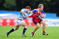 Jakub Zalud of the Czech Republic in action. FISU World University Championship Rugby Sevens Men's 7th/8th/9th place play-off match between the Czech Republic and Argentina on July 9, 2016 at the Swansea University International Sports Village in Swansea, Wales. Photo by: Patrick Khachfe / Onside Images