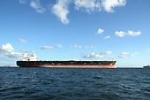 Stock Photo Cargo Ship at Harbor