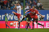 FUSSBALL   1. BUNDESLIGA   SAISON 2012/2013    34. SPIELTAG Hamburger SV - Bayer 04 Leverkusen                      18.05.2013 Dennis Diekmeier (li, Hamburger SV) gegen Stefan Kiessling (re, Bayer 04 Leverkusen)