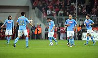 FUSSBALL   CHAMPIONS LEAGUE   SAISON 2011/2012     02.11.2011 FC Bayern Muenchen - SSC Neapel Enttaeuschung bei Federico Fernandez , Ezequiel Lavezzi , Goekhan Inler (v. li., SSC Neapel)